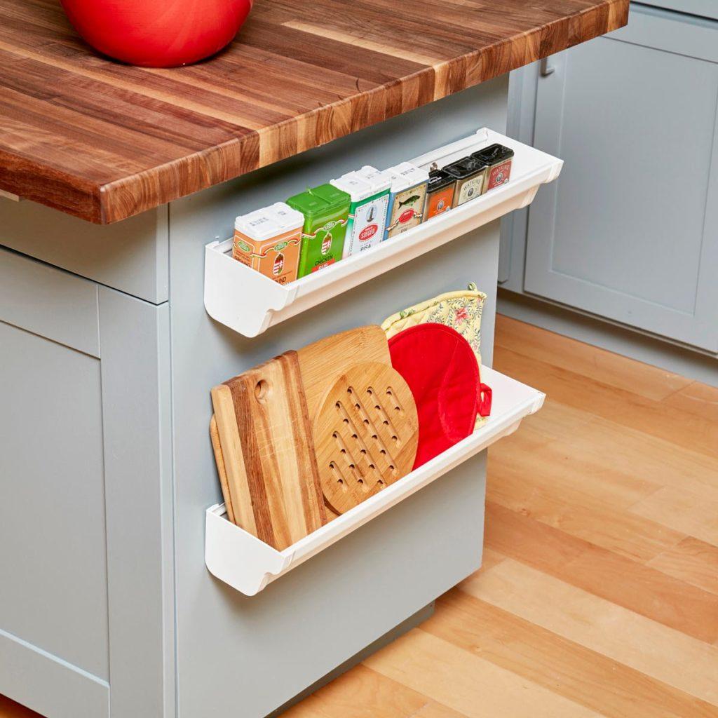Genius Storage Idea: Gutter Shelves
